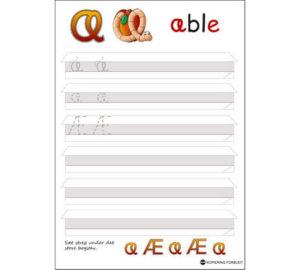 ABC min første skrivebog eksempel